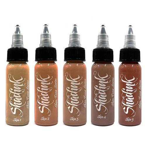 Shadink Tattoo Ink Skin Tone Series Set