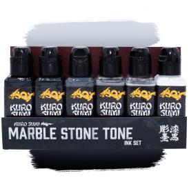 Kuro sumi Marble Stone Tattoo Ink Set 8